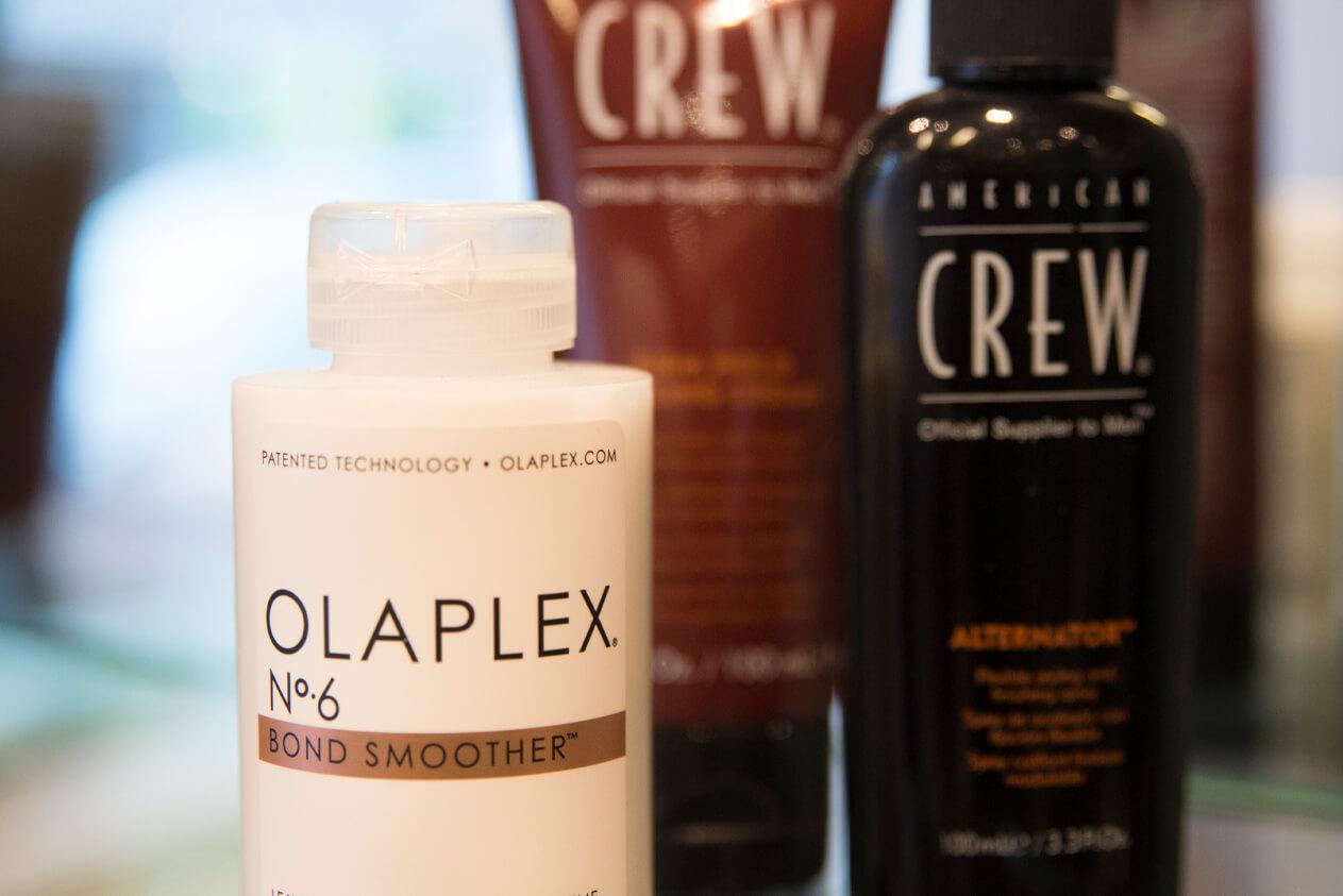 Olaplex og American Crew hårprodukter